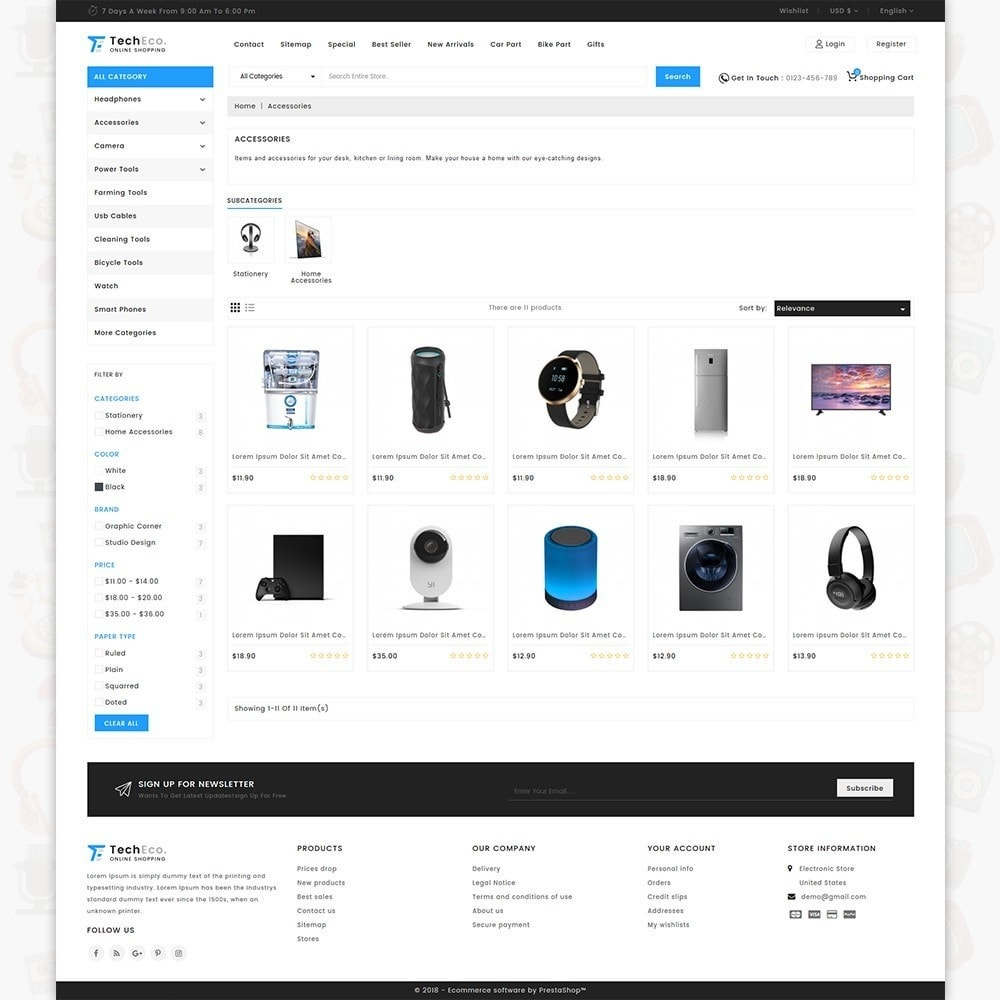 theme - Электроника и компьютеры - TechEco  - The Online Shopping - 3