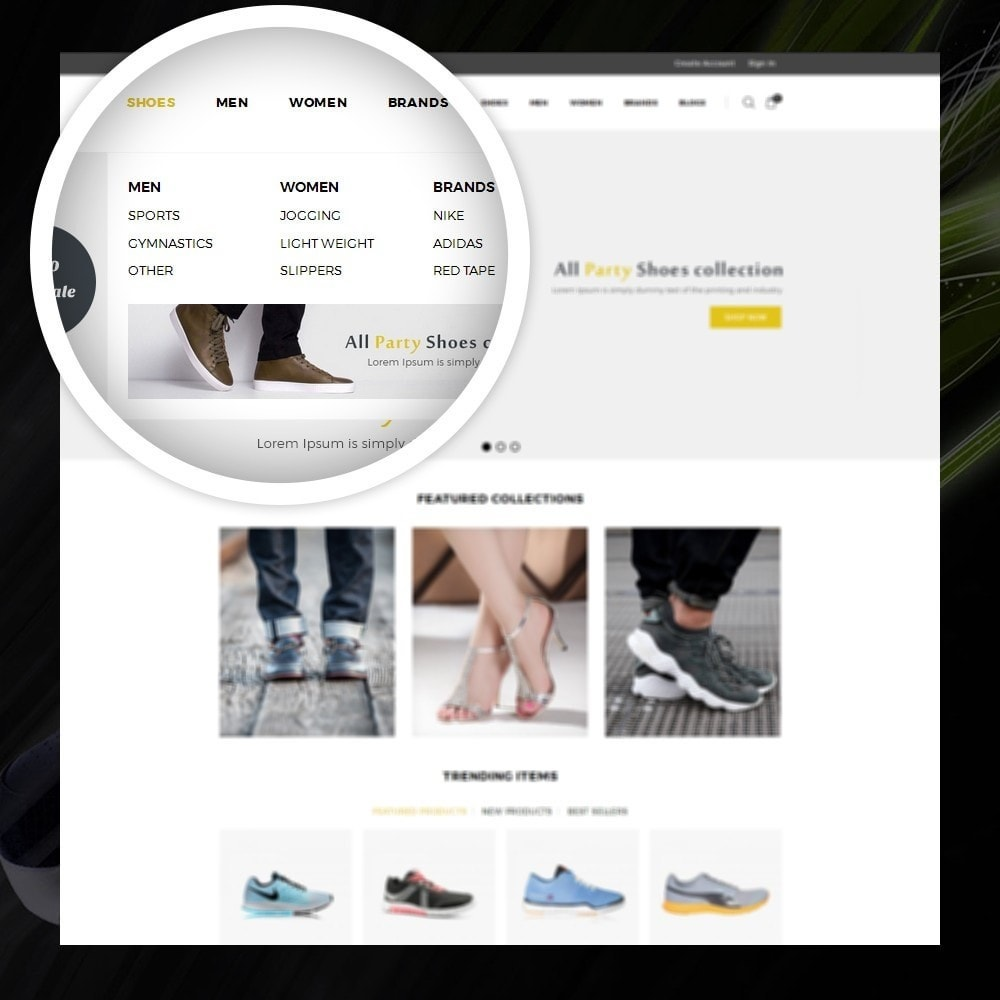 theme - Мода и обувь - Dazzel - Shoes store - 7