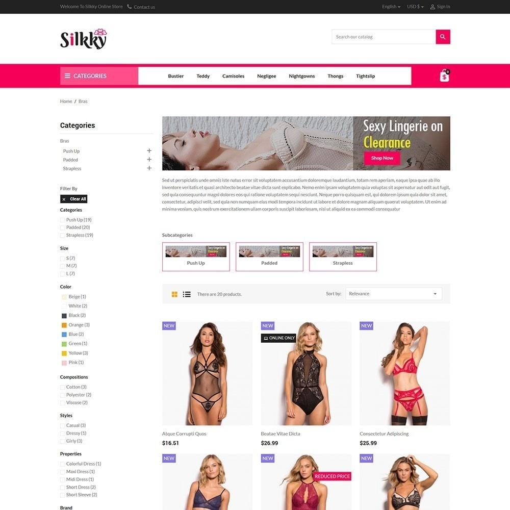 theme - Bielizna & Dorośli - Silkky - Lingerie Online Store - 3