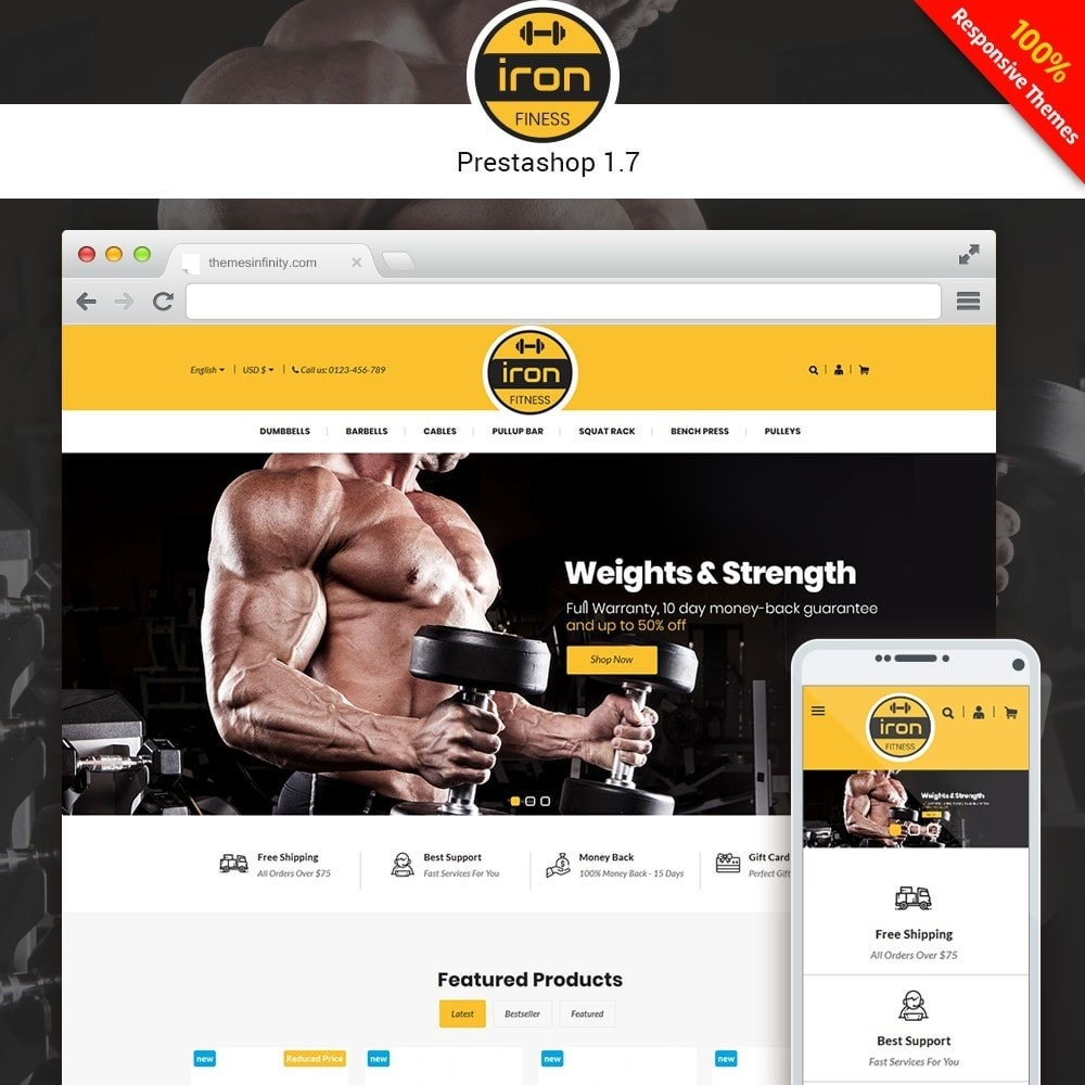 theme - Health & Beauty - Iron - Fitness Online Store - 1