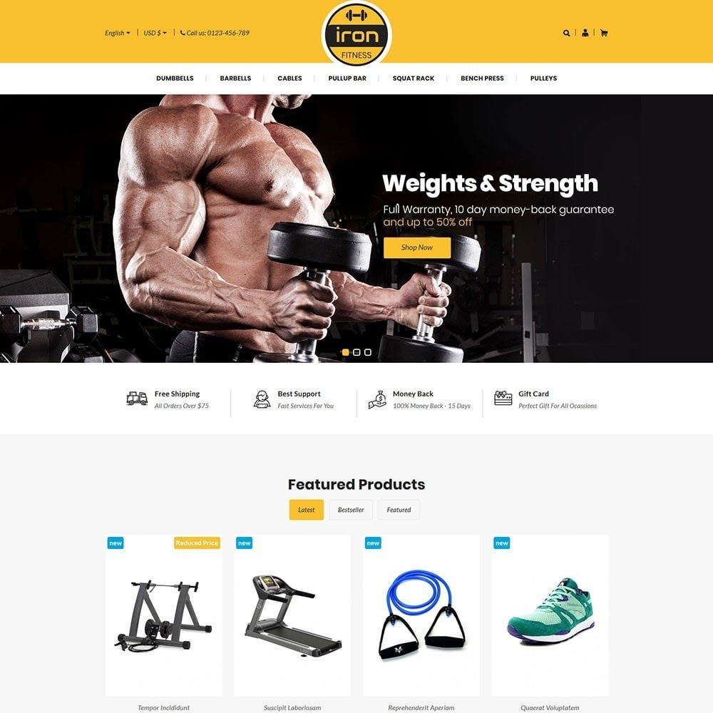 theme - Health & Beauty - Iron - Fitness Online Store - 2