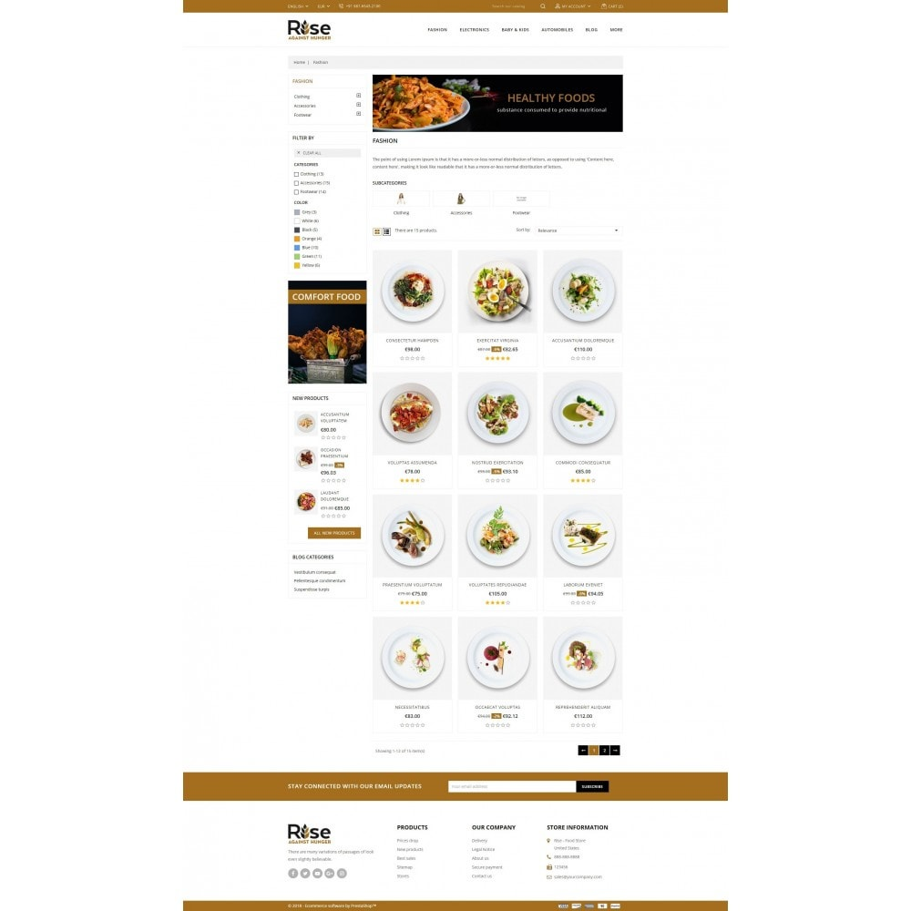 theme - Alimentation & Restauration - RISE - Food Store - 3