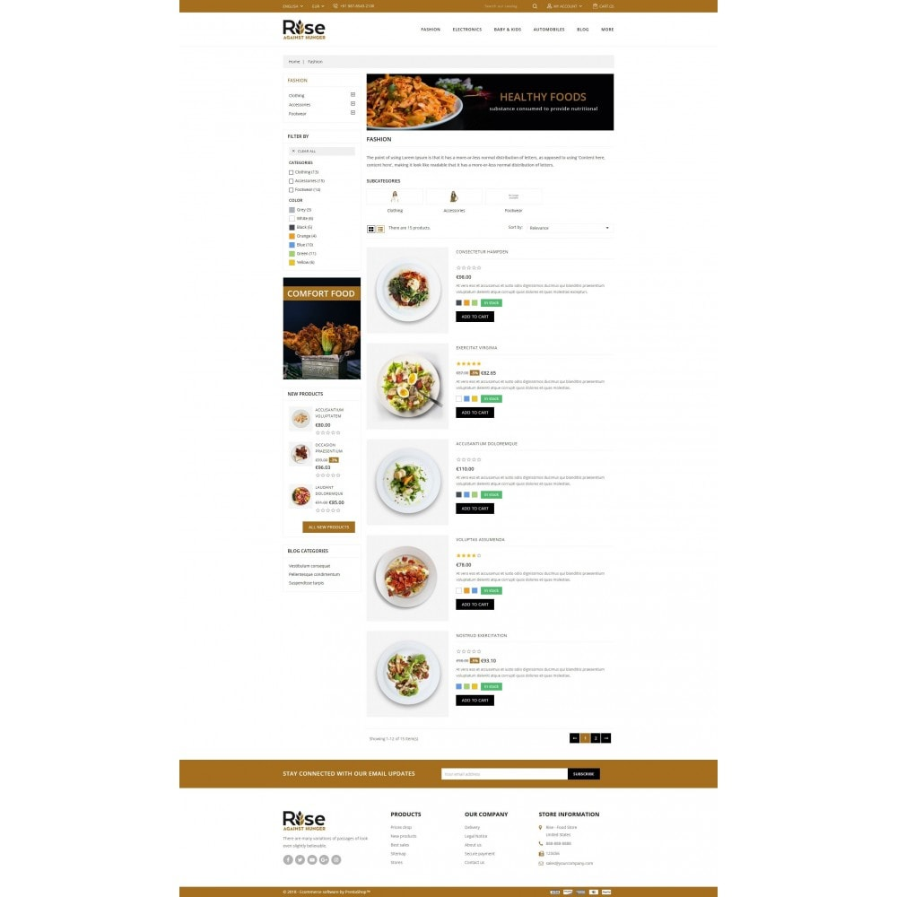 theme - Alimentation & Restauration - RISE - Food Store - 4