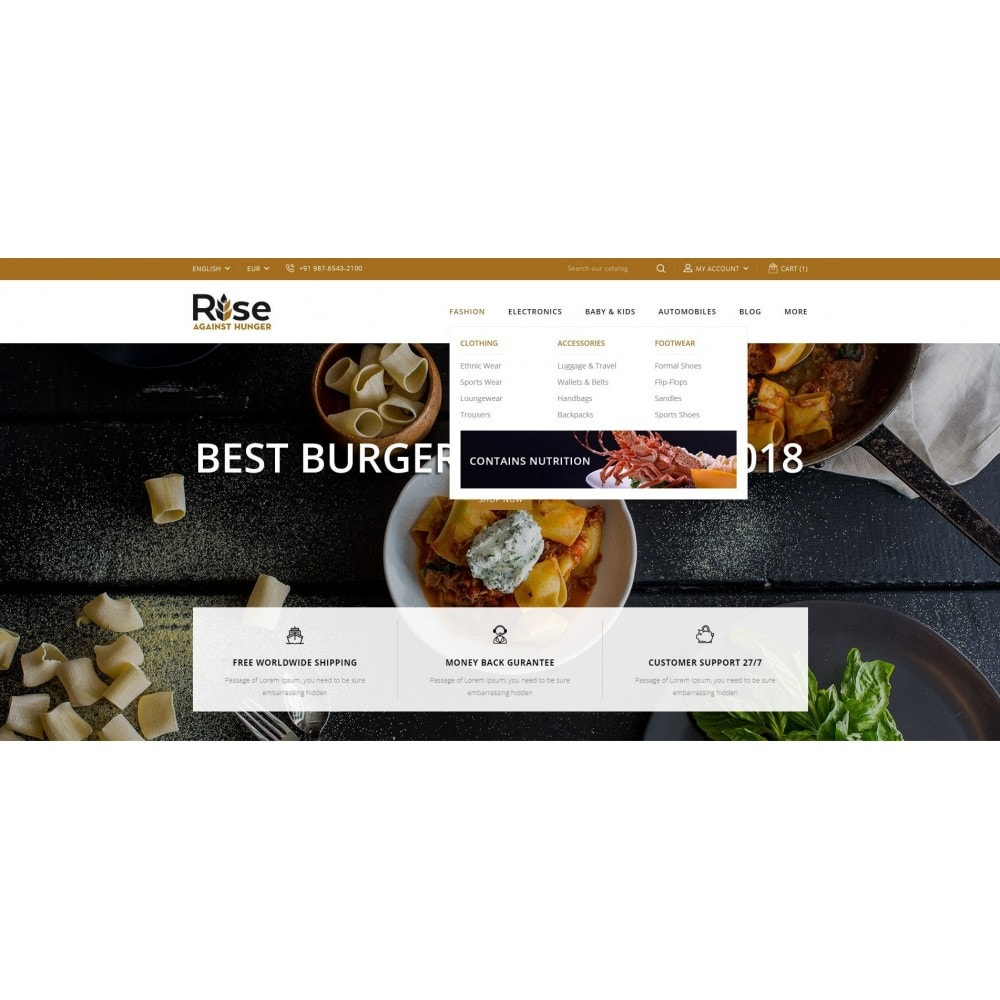 theme - Alimentation & Restauration - RISE - Food Store - 6