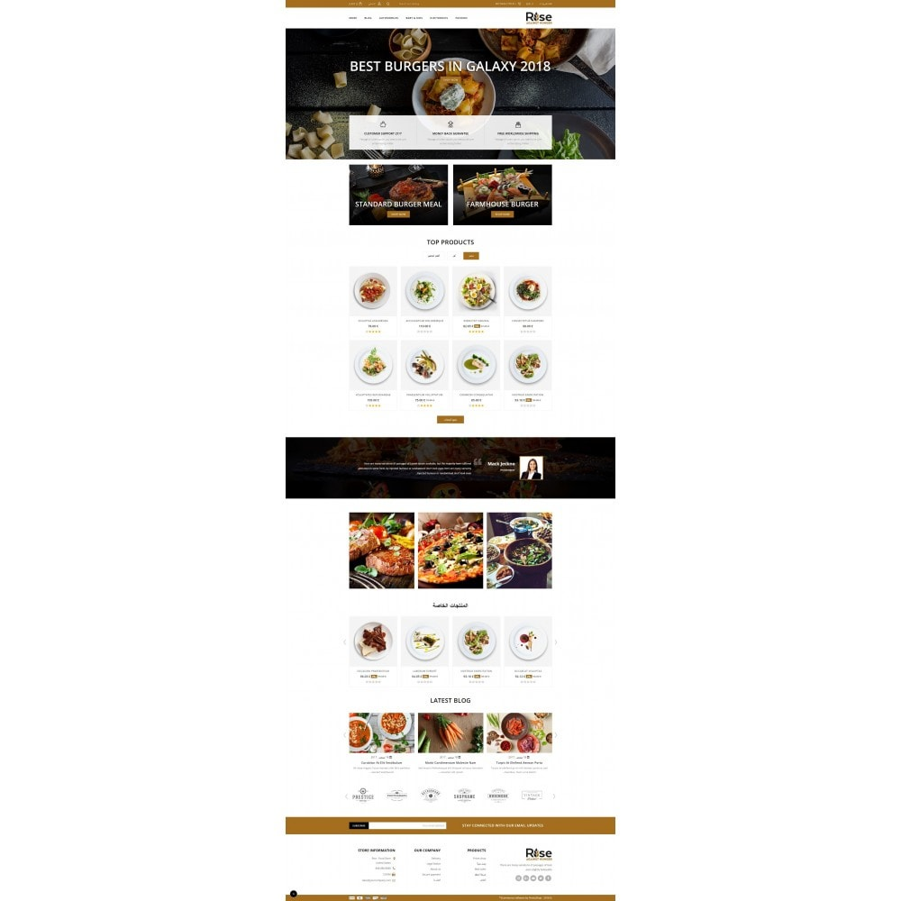 theme - Alimentation & Restauration - RISE - Food Store - 10