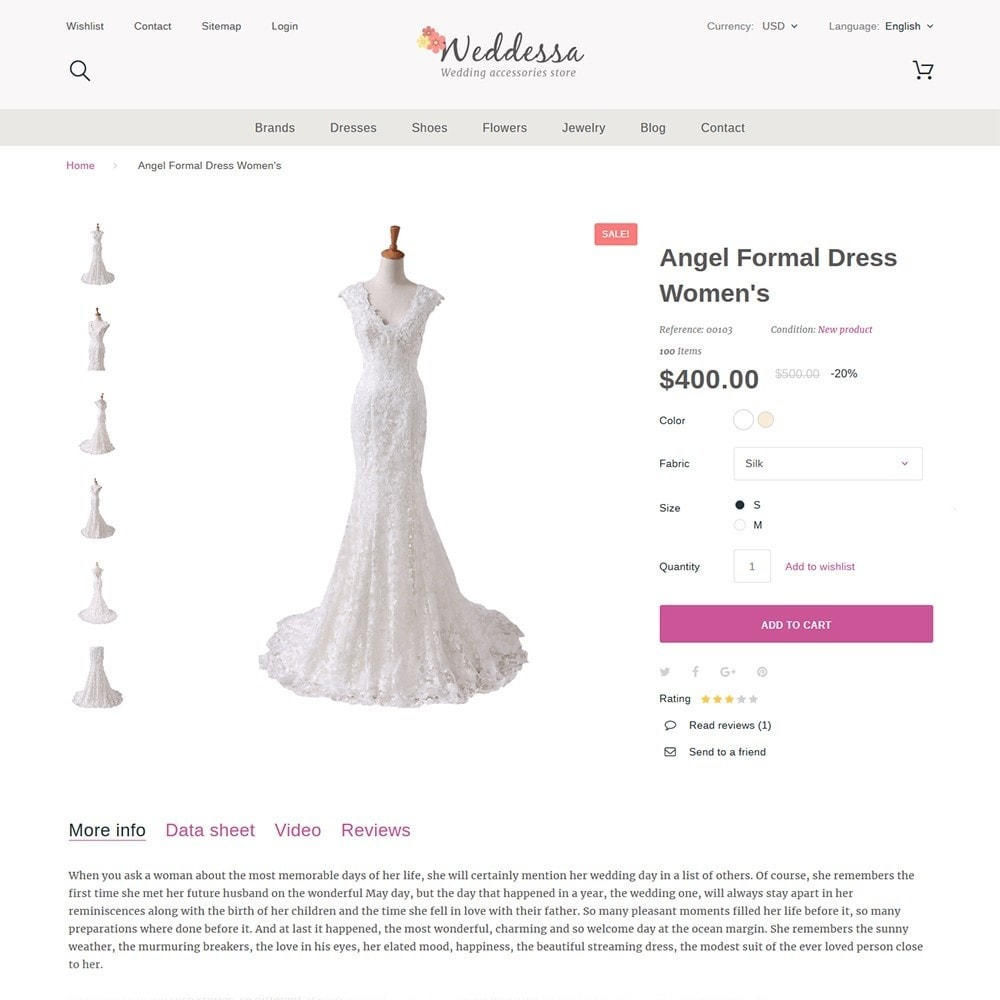 theme - Mode & Chaussures - Weddessa - Magasin de mariage - 4