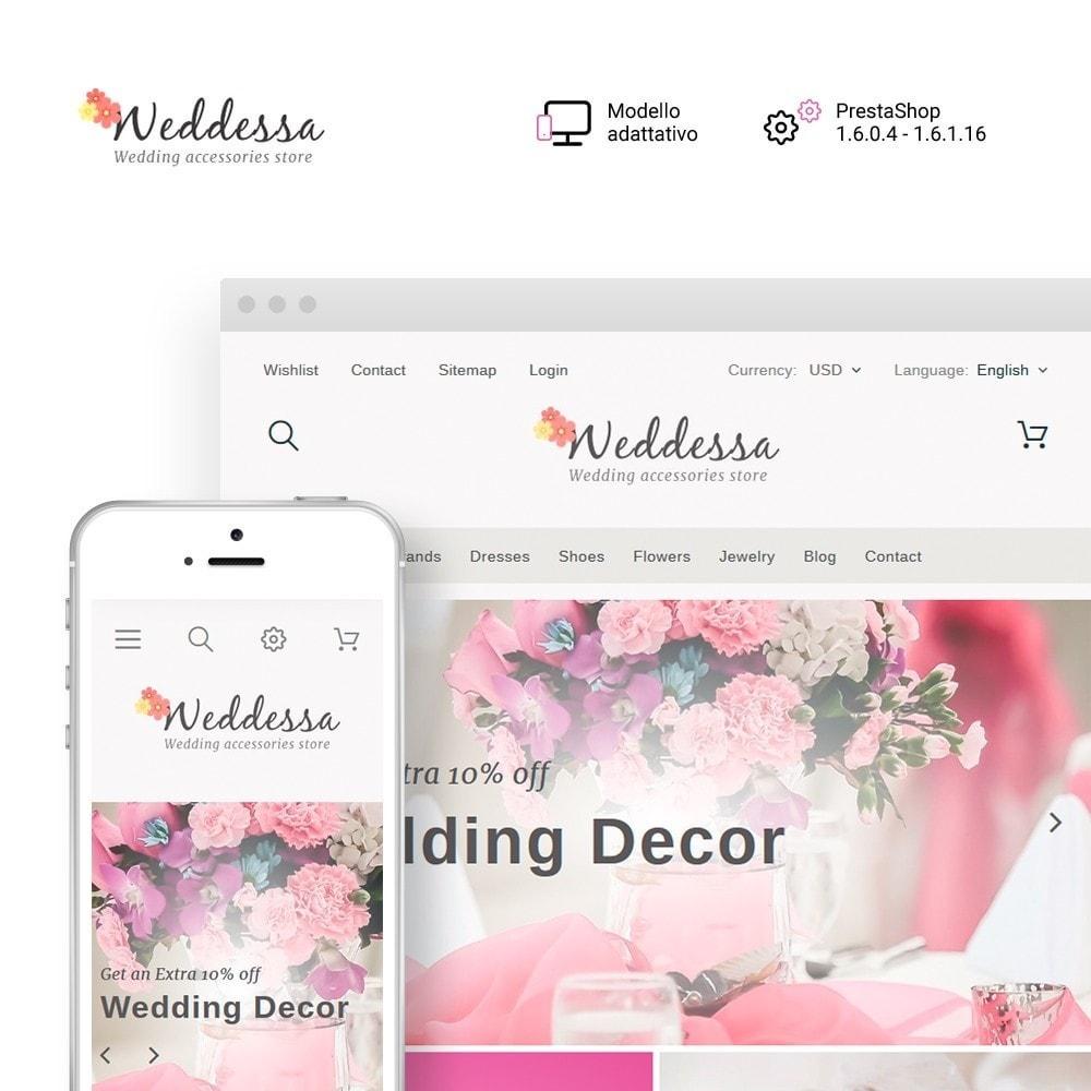 theme - Moda & Calzature - Weddessa - per Un Sito di Lista di Nozze - 2