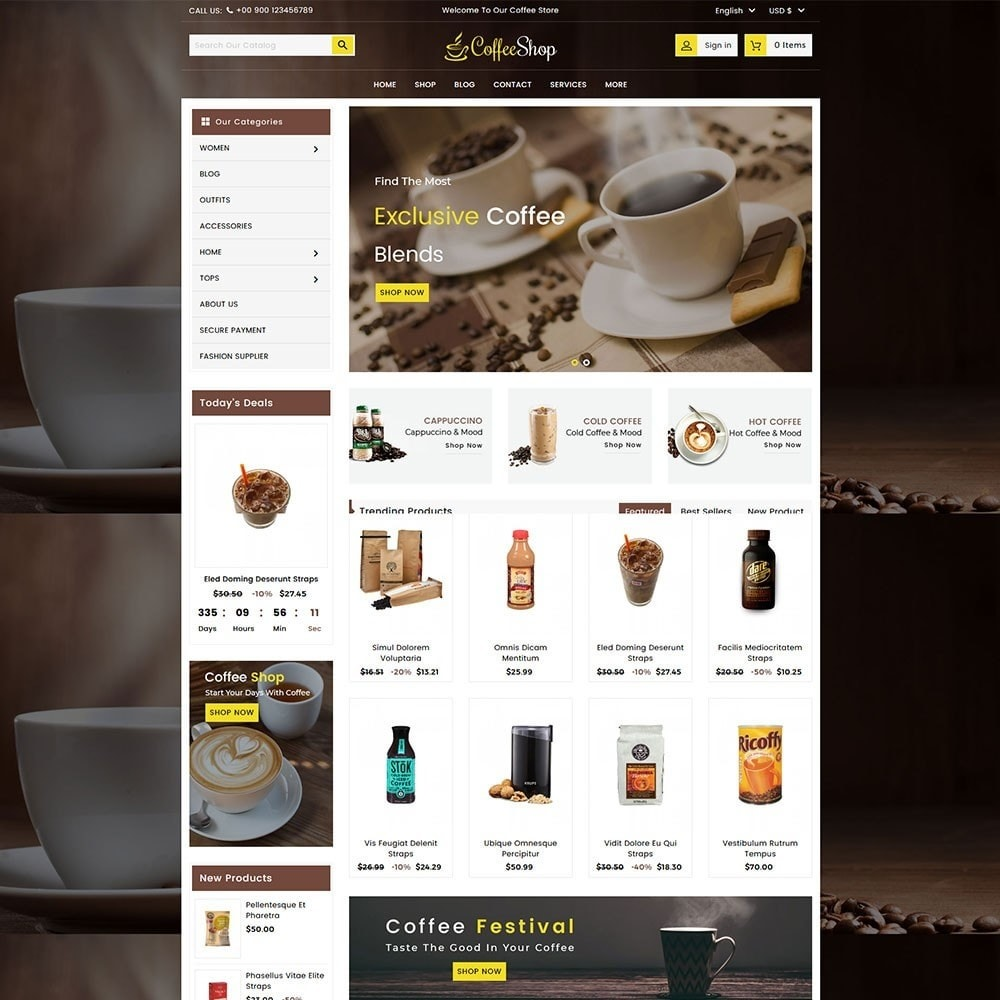 theme - Bebidas & Tabaco - Coffee and Drinks Store - 2