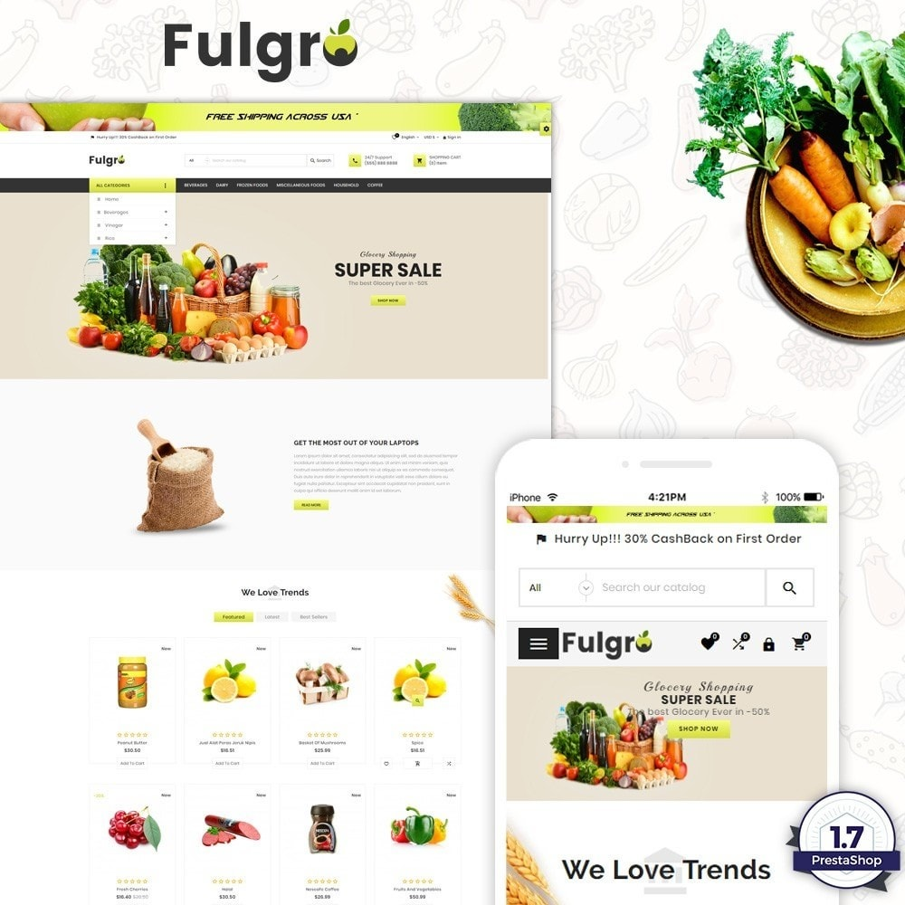 theme - Food & Restaurant - Fulgro – Food and Grocery Super Store v3 - 1