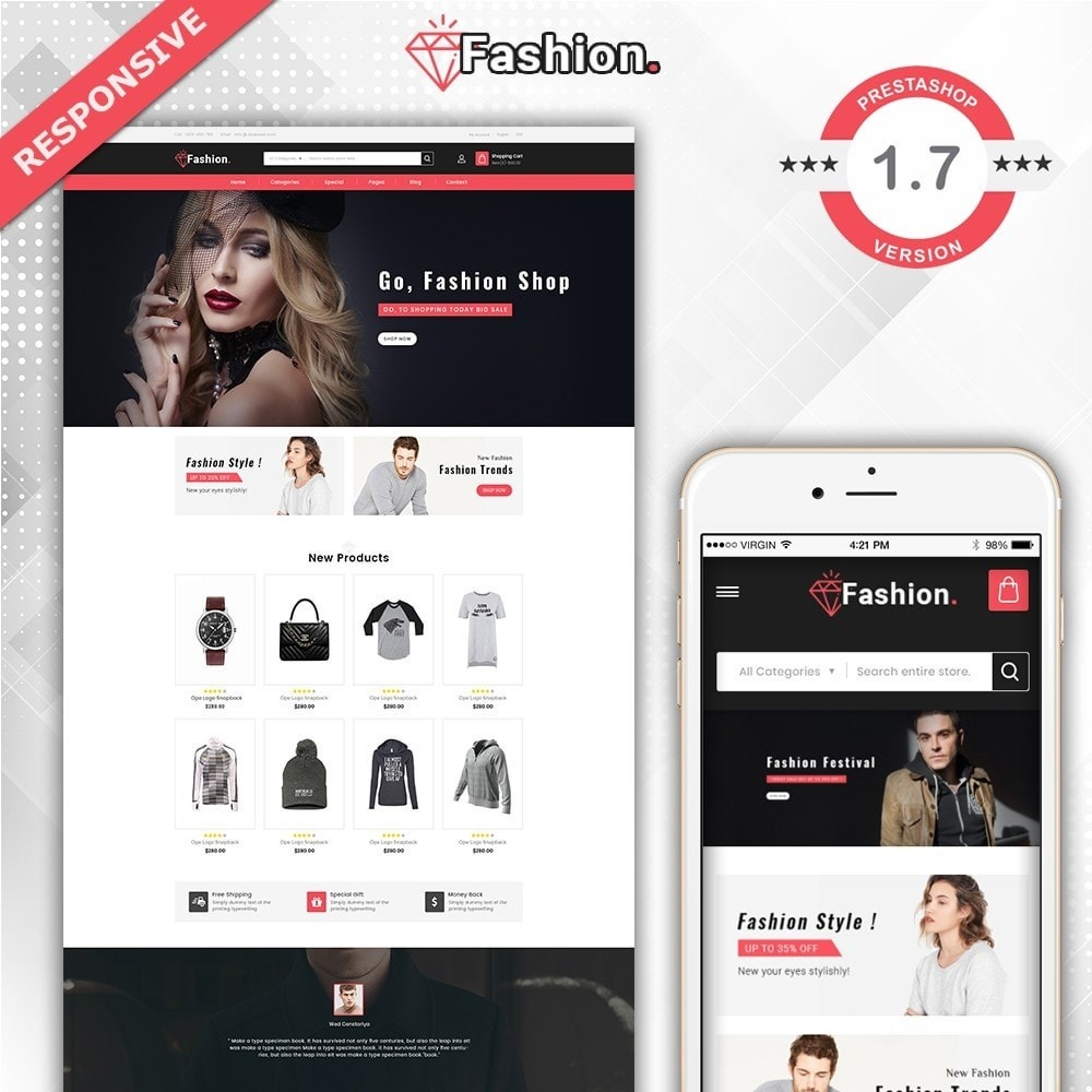 theme - Moda & Obuwie - Fashion Shop -  Fashion Store Template - 1