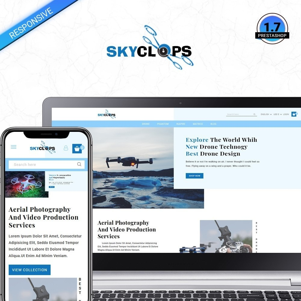 theme - Electronics & Computers - Skyclops Drone Store - 1