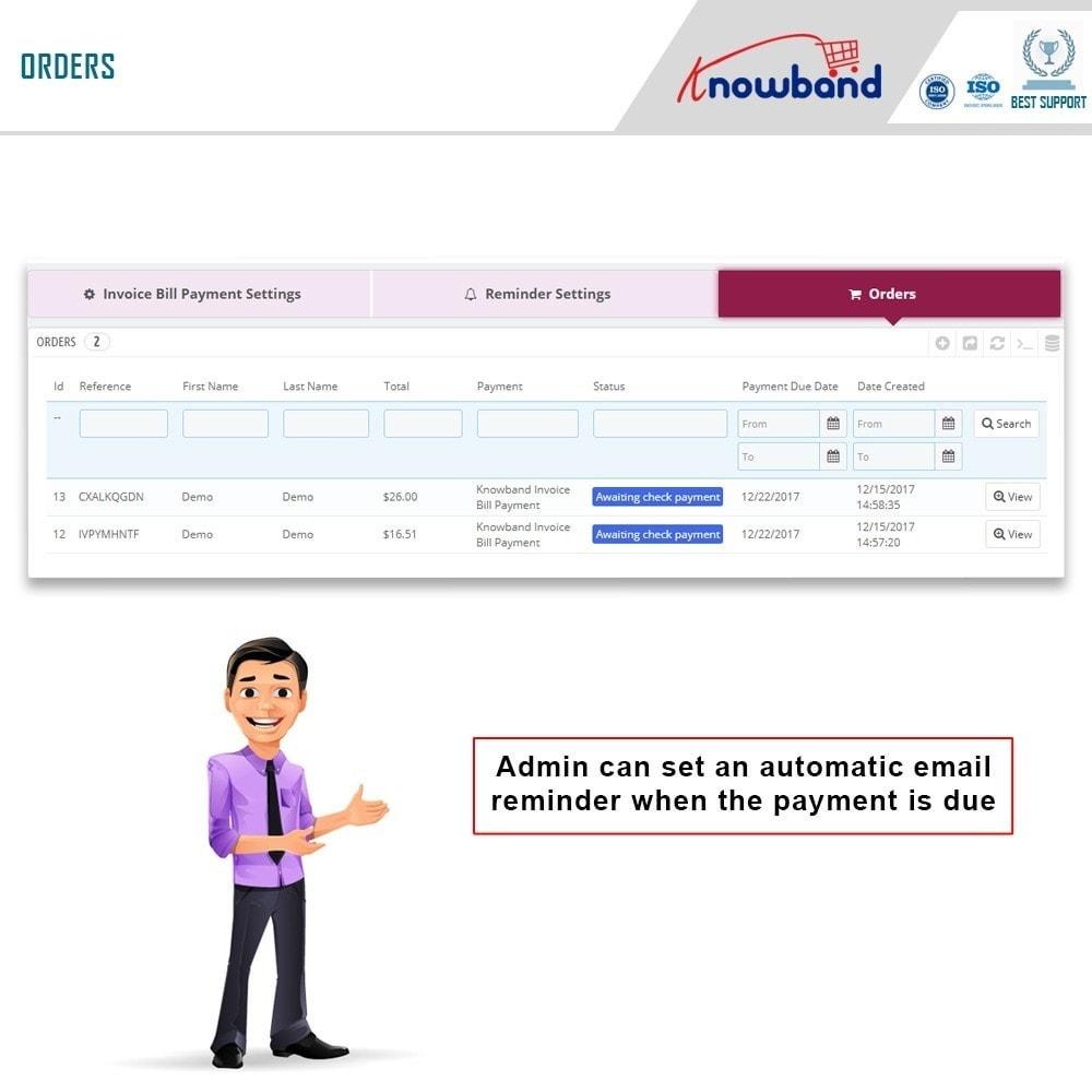 module - Paiement par Facture - Knowband - Invoice Bill Payment - 9