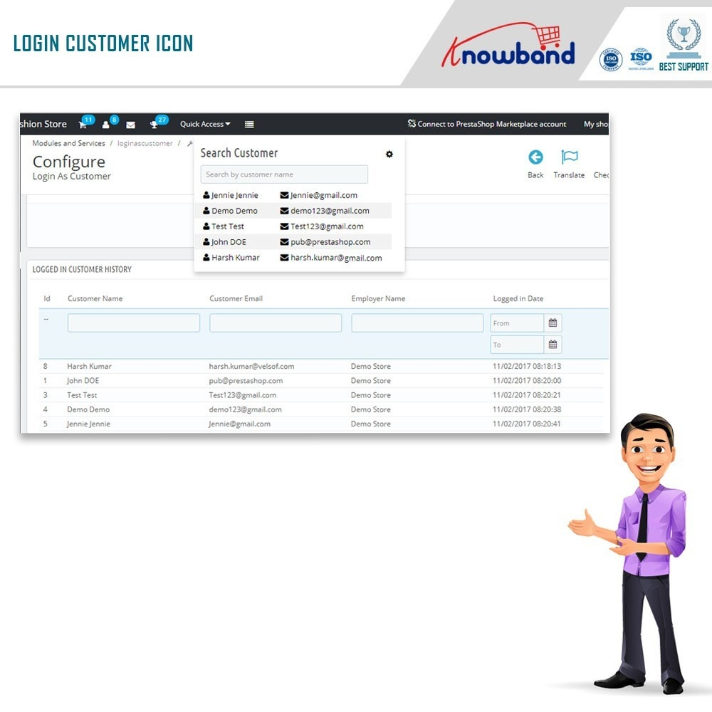 module - Gestione clienti - Knowband - Login as a Customer - 5