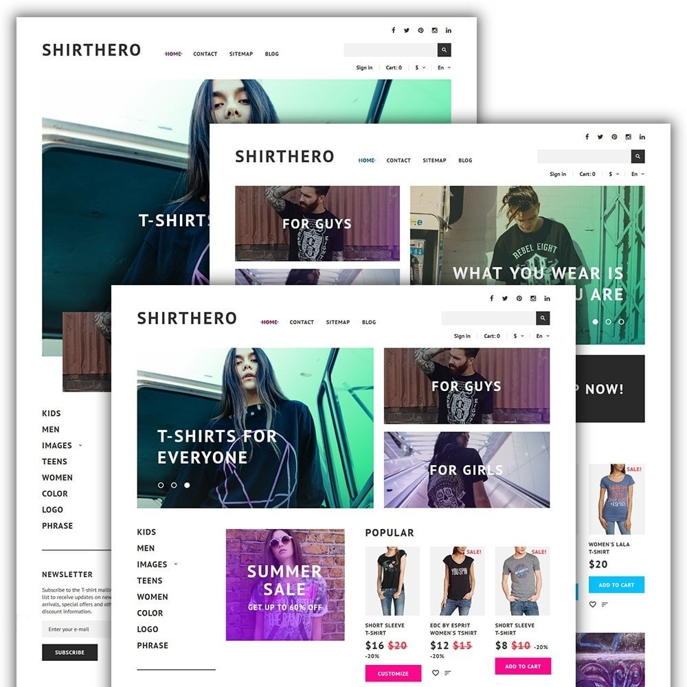 theme - Мода и обувь - ShirtHero - T-shirt - 2