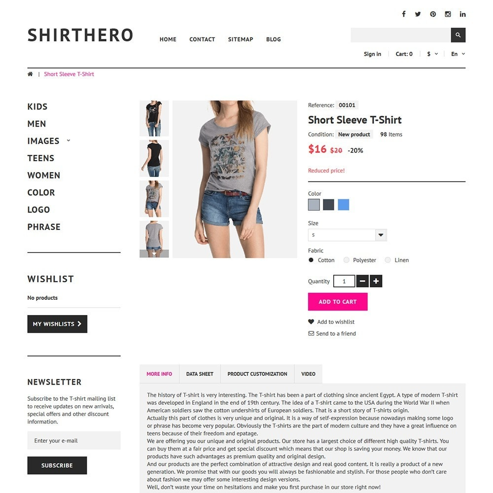 theme - Мода и обувь - ShirtHero - T-shirt - 3