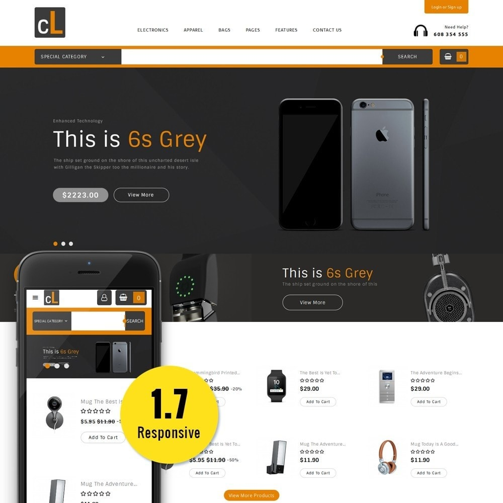 theme - Elettronica & High Tech - CL Electronic Store - 1