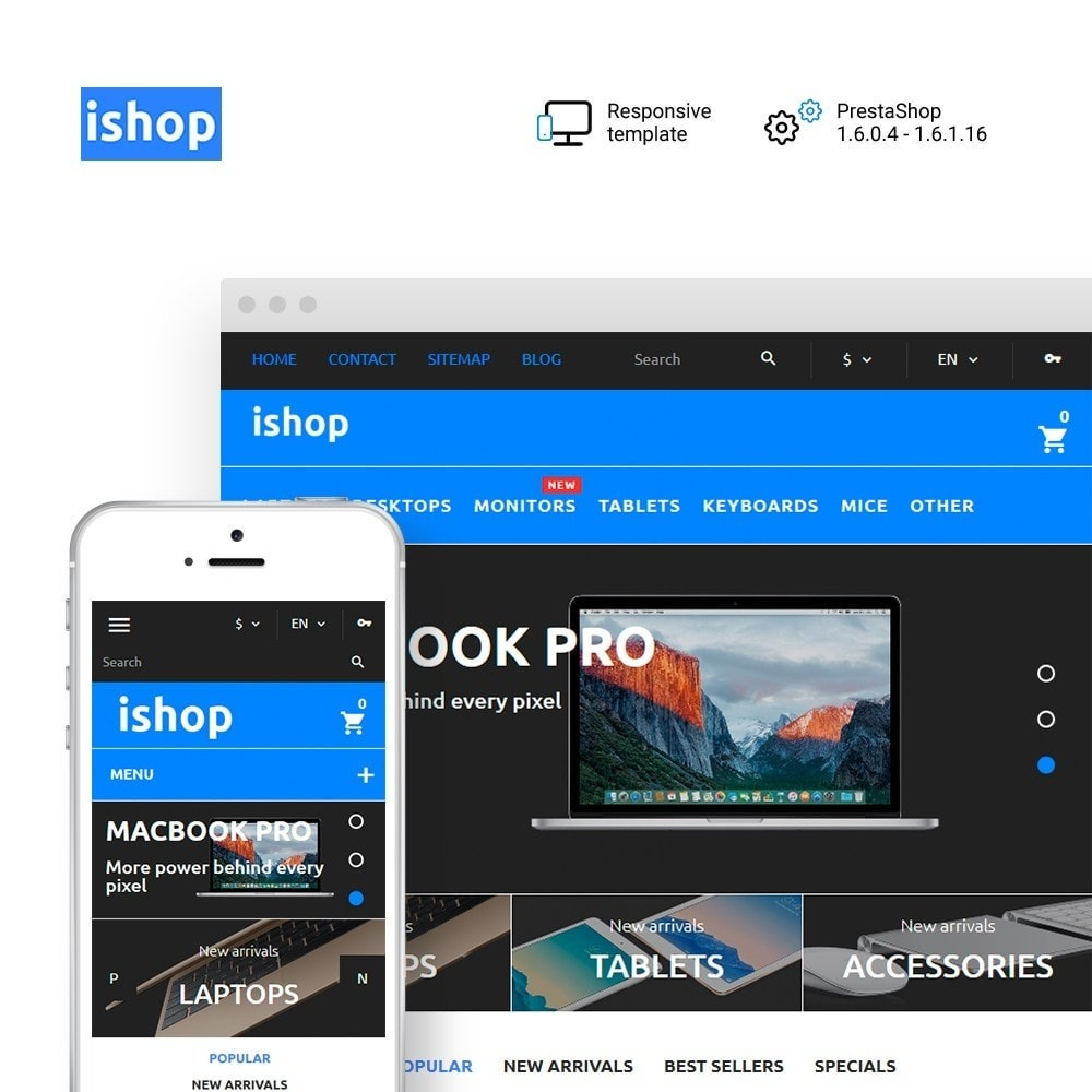theme - Elektronika & High Tech - iShop - Computer Store - 1