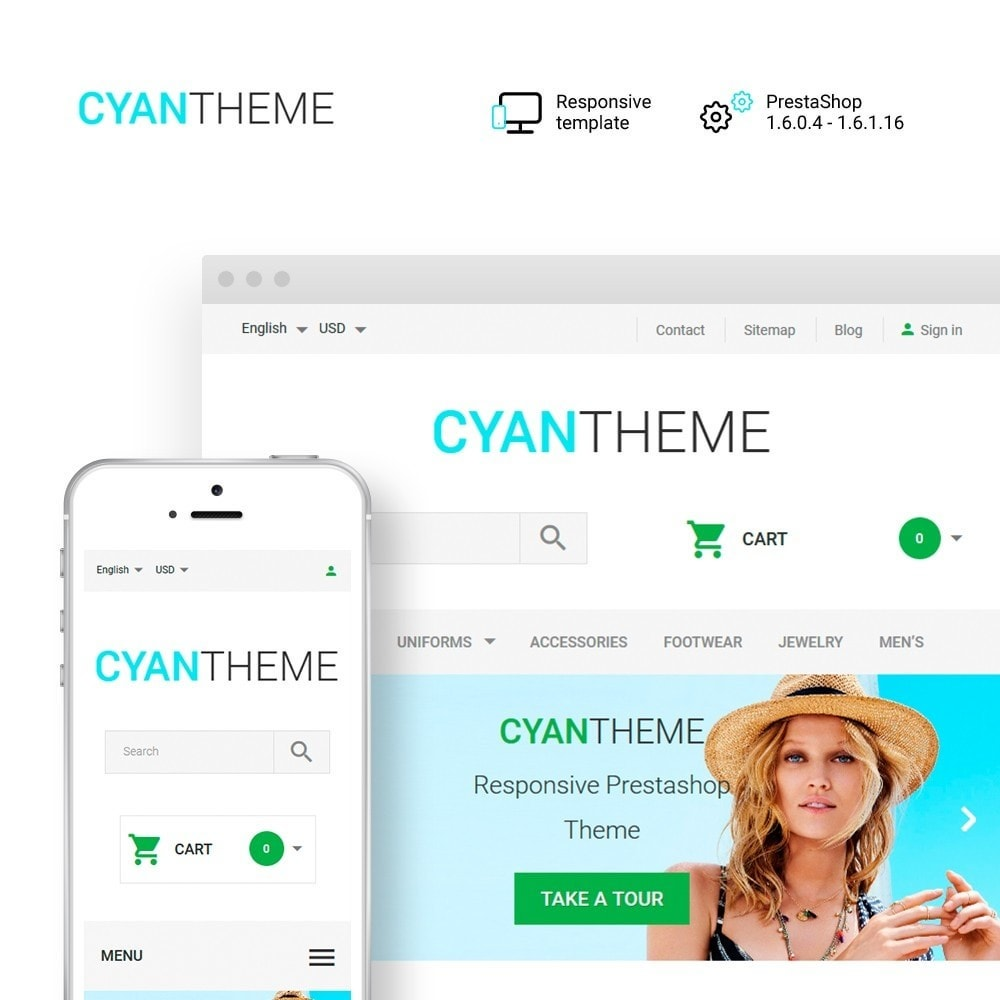 theme - Fashion & Shoes - CyanTheme - Fashion Store - 1