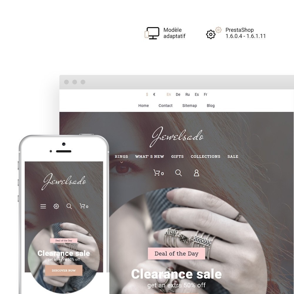 theme - Mode & Chaussures - Jewelsado - Jewelry Store - 1