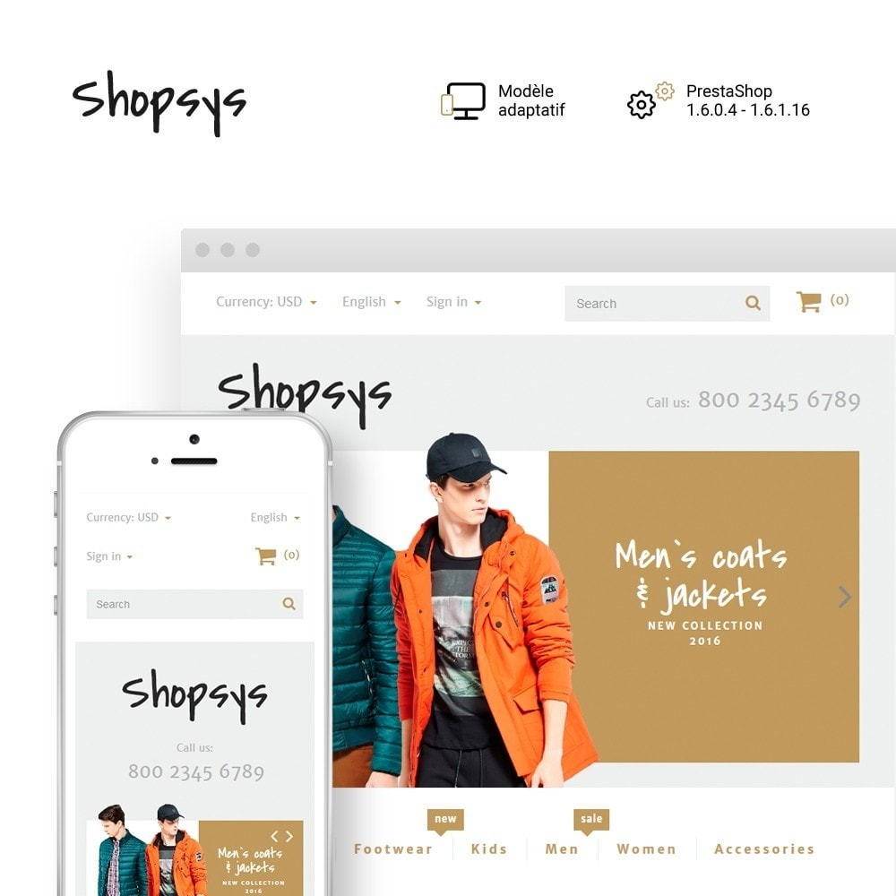 theme - Mode & Chaussures - Shopsys - Trendy Clothes - 1