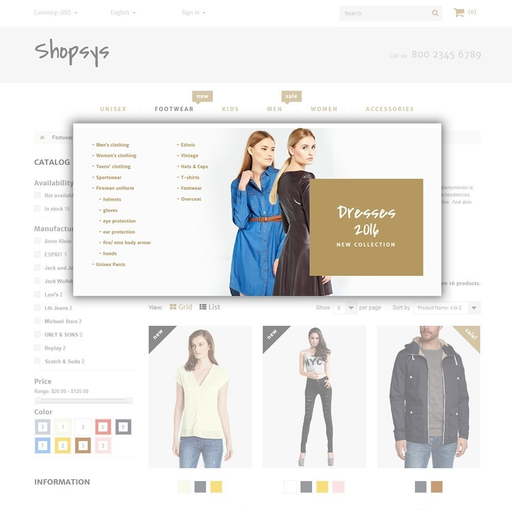 theme - Moda y Calzado - Shopsys - Trendy Clothes - 6