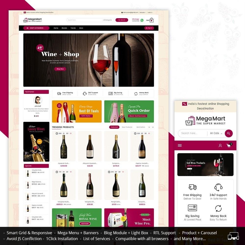 theme - Напитки и с сигареты - Mega Mart Wine & Tobacco - 1