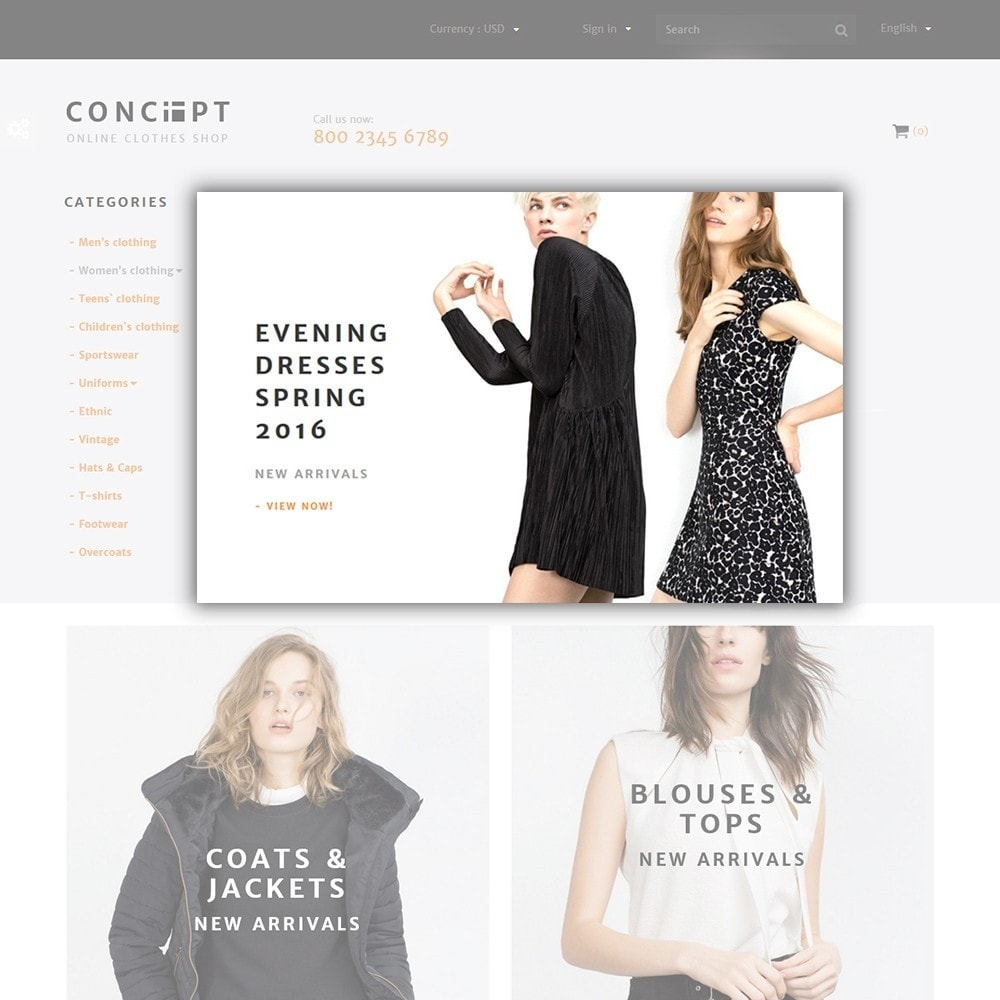 theme - Fashion & Shoes - Concept - Apparel Store - 4