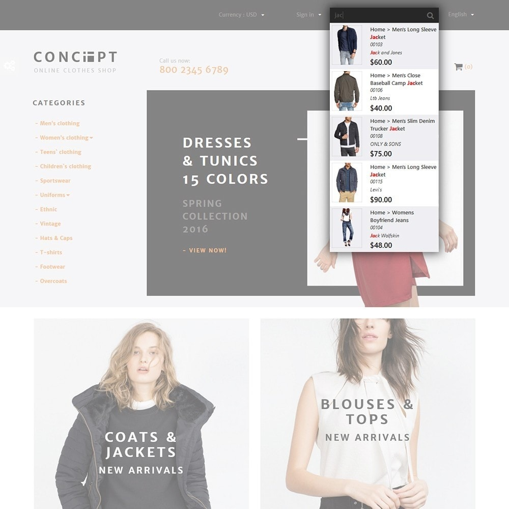 theme - Fashion & Shoes - Concept - Apparel Store - 5