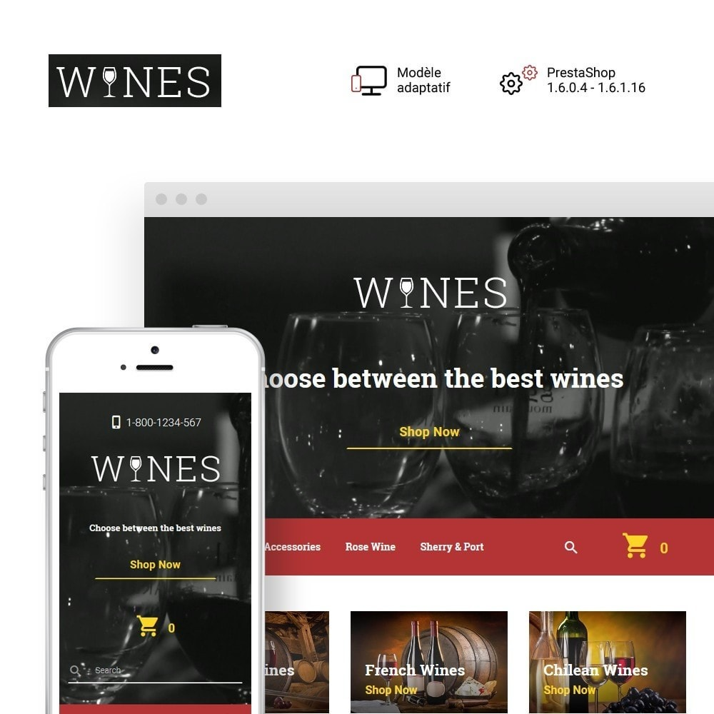 theme - Alimentation & Restauration - Wines - Wine Store - 1