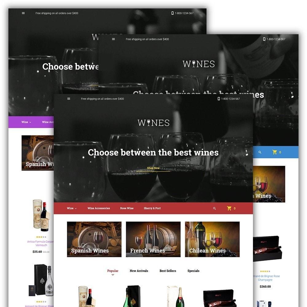 theme - Продовольствие и рестораны - Wines - Wine Store - 2