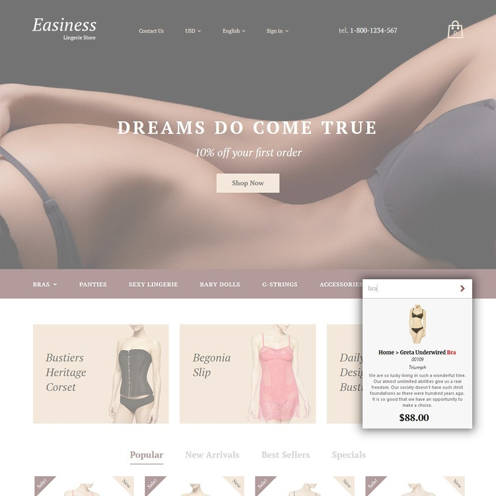 theme - Mode & Schuhe - Easiness - Lingerie Store - 5