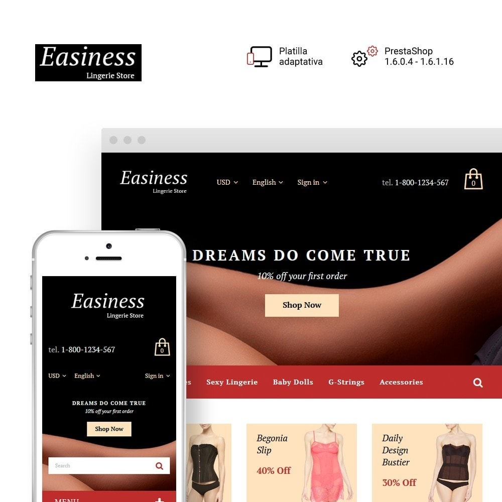 theme - Moda y Calzado - Easiness - Lingerie Store - 1
