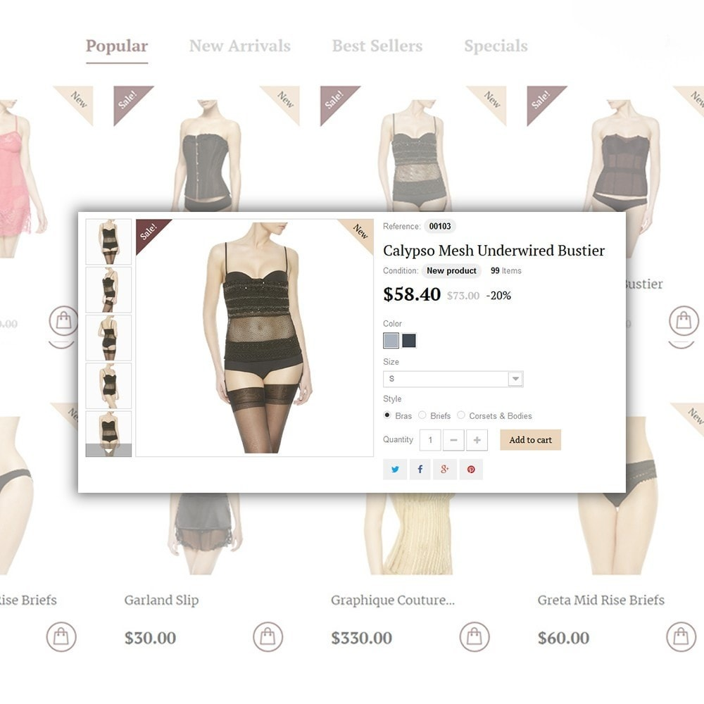 theme - Moda & Calzature - Easiness - Lingerie Store - 6