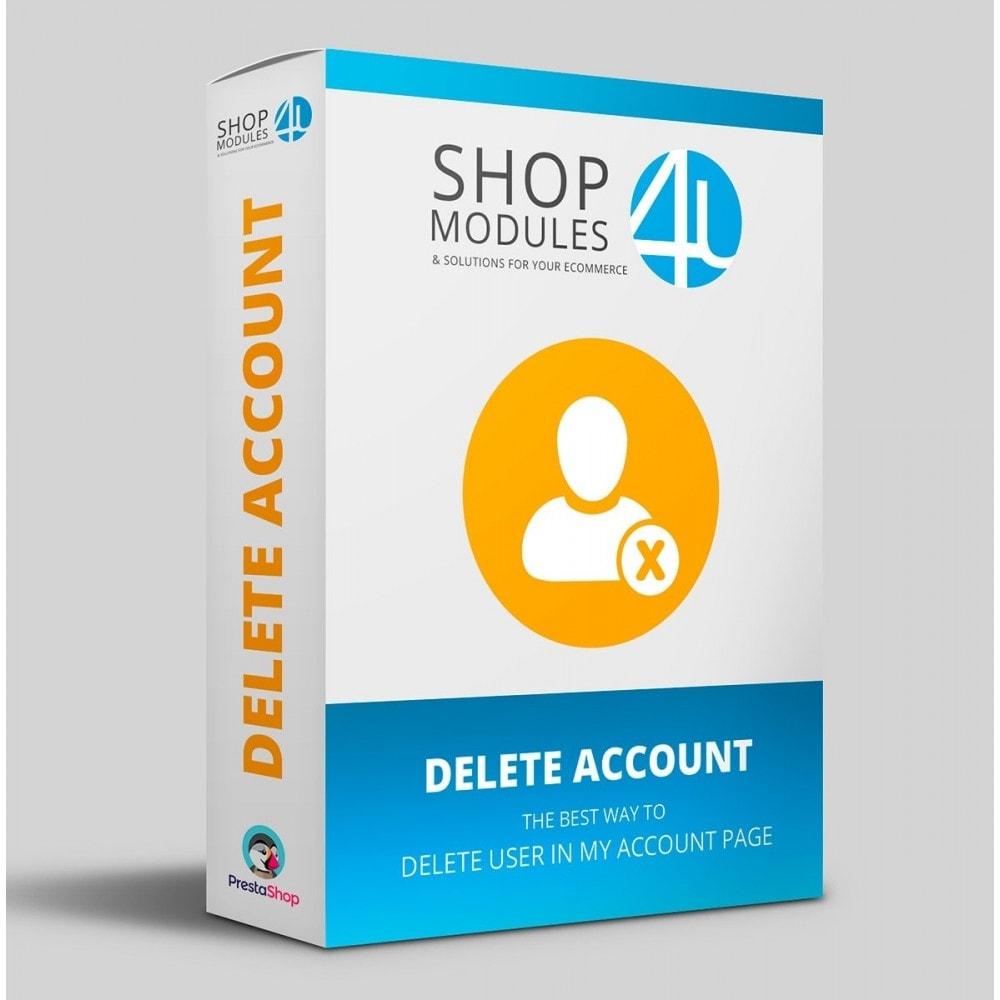 module - Rechtssicherheit - Delete Account (GDPR 2019 requirement) - 1