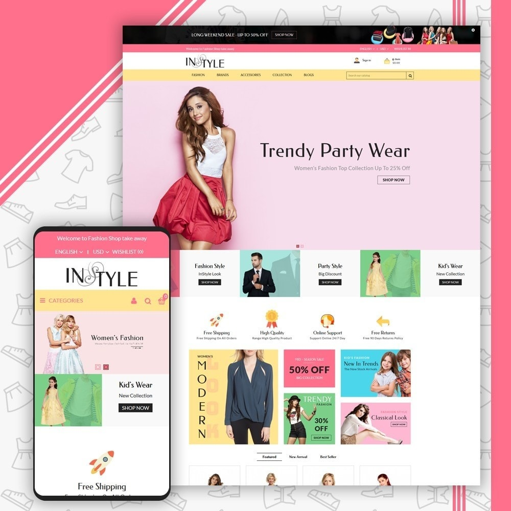 theme - Moda & Obuwie - InStyle Fashion Shop - 1