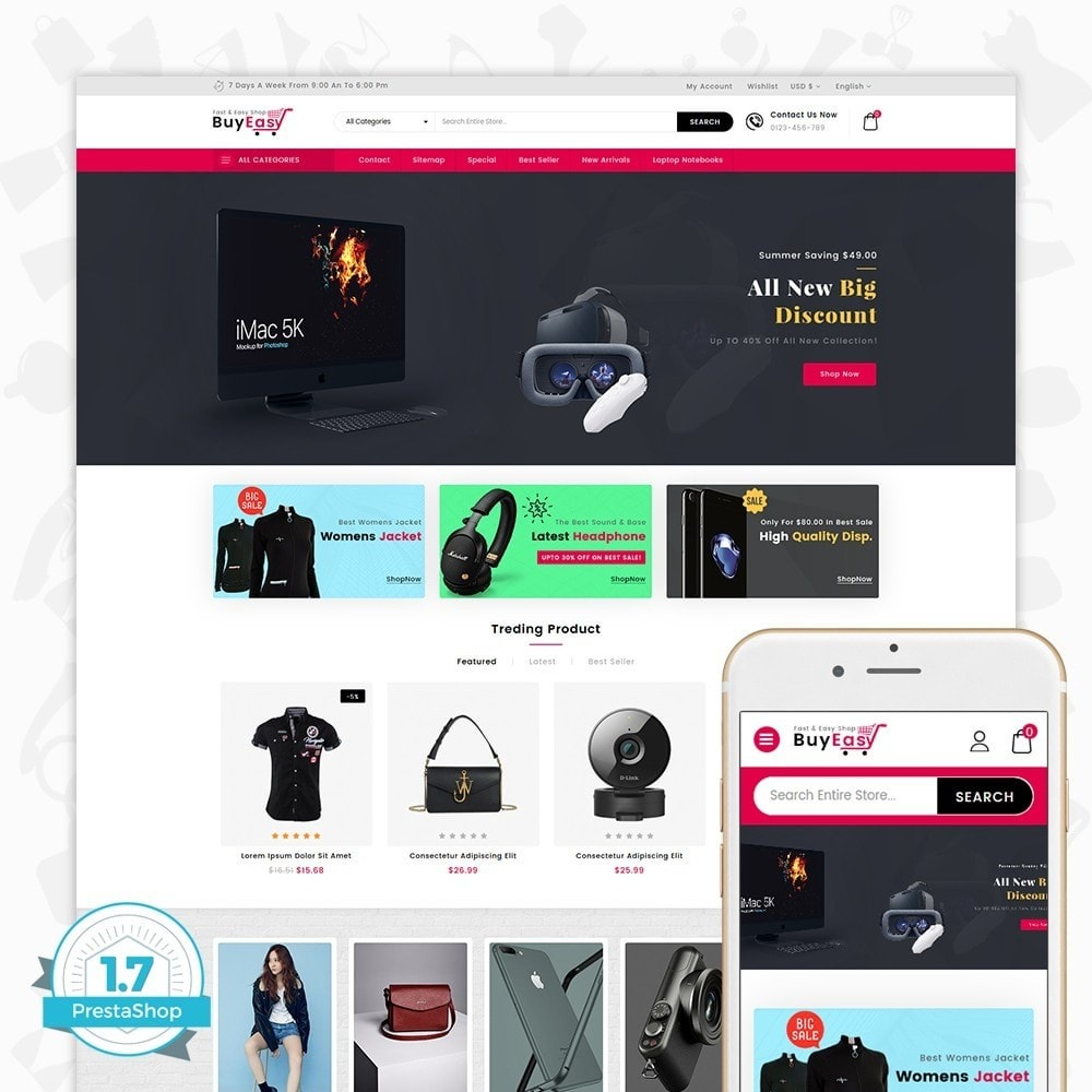 theme - Eletrônicos & High Tech - Buyeasy - Fast and Easy Shop - 1