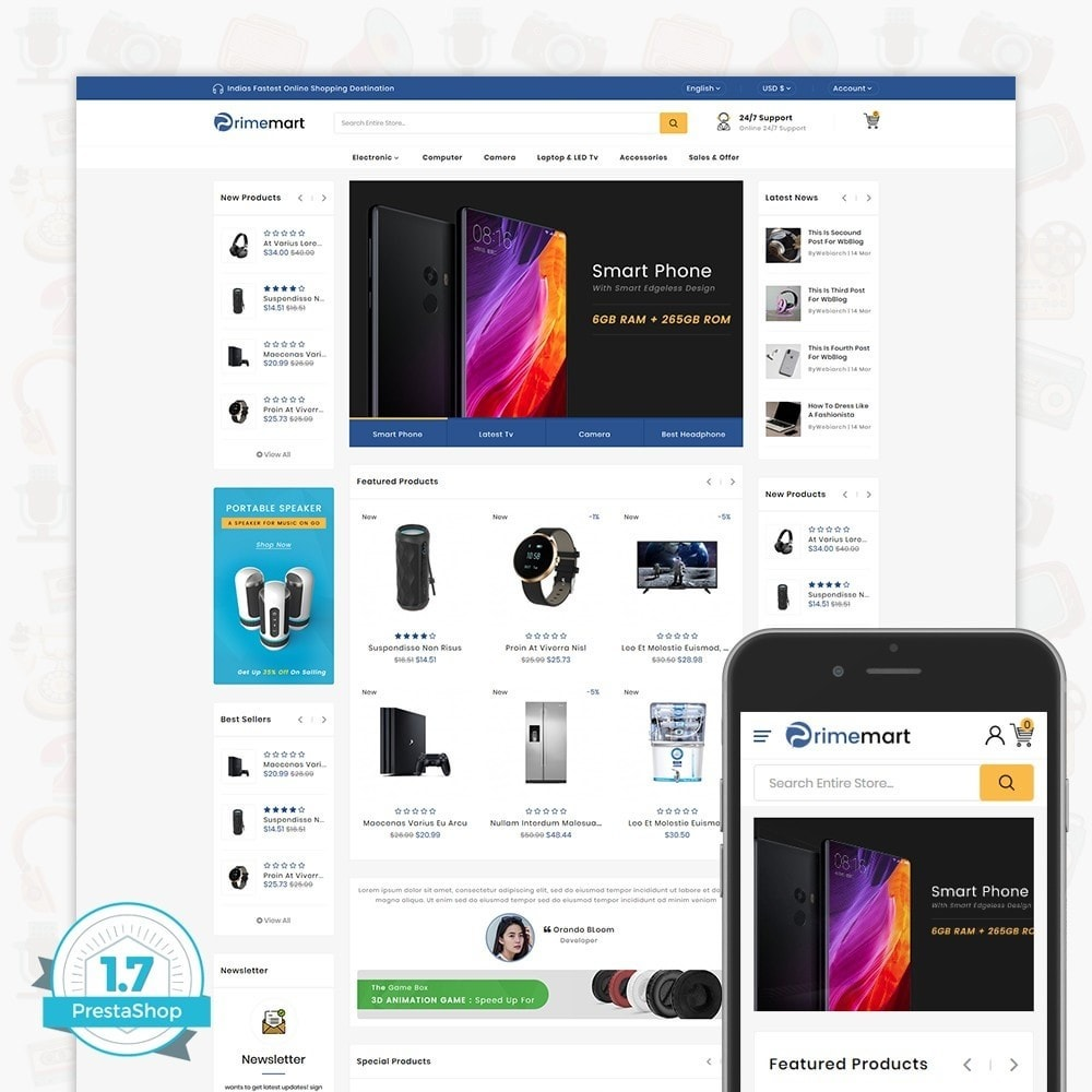 theme - Elektronika & High Tech - PrimeMart - The Mega Ecommerce Store - 1