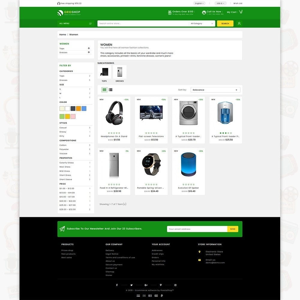 theme - Electronics & Computers - GridShop - The Large Ecommerce Store - 3