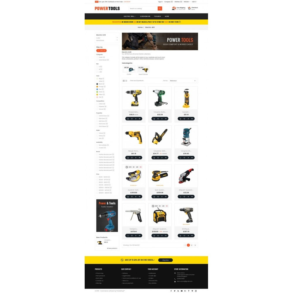 theme - Dom & Ogród - Power Tools Store - 3