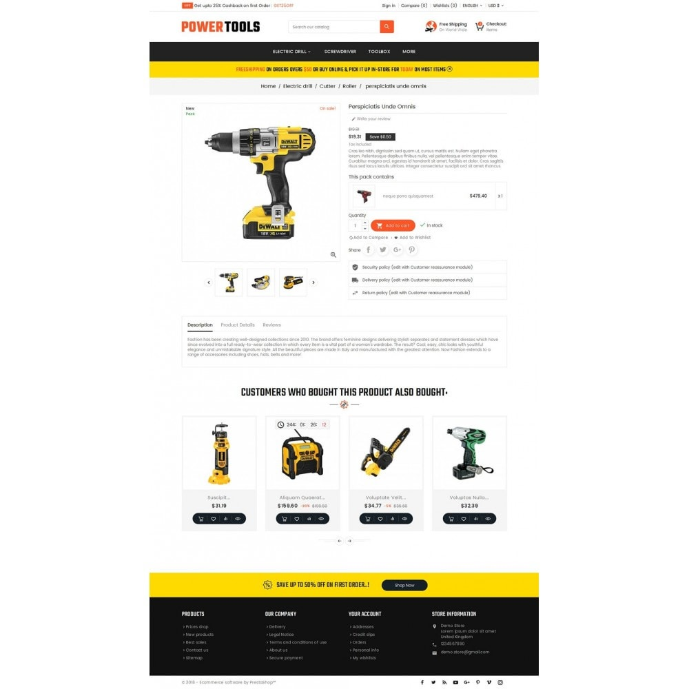 theme - Dom & Ogród - Power Tools Store - 5