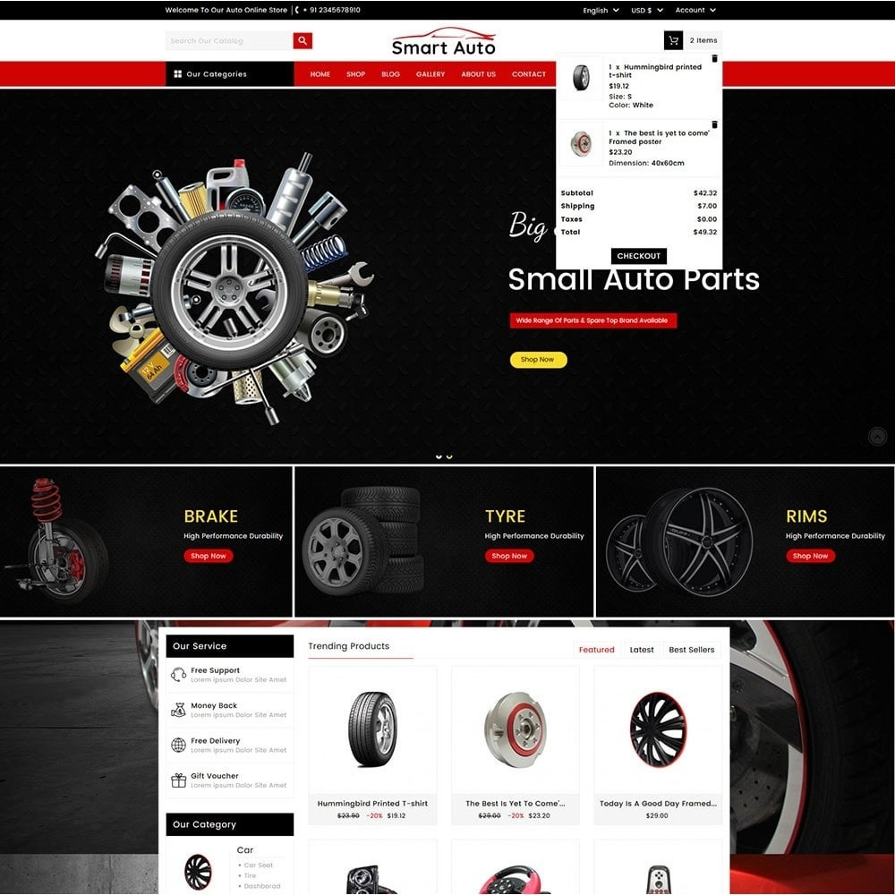 theme - Carros & Motos - Smart Auto - 3