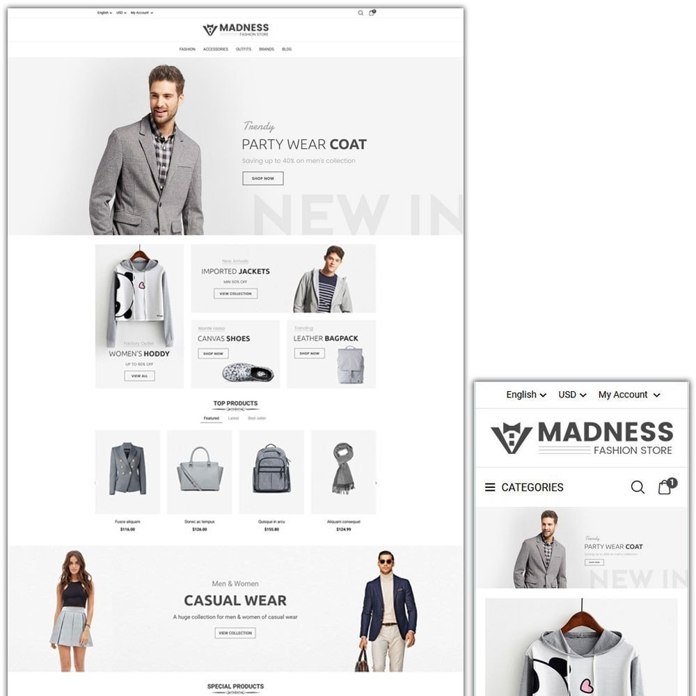 theme - Мода и обувь - Madness Fashion Store - 1
