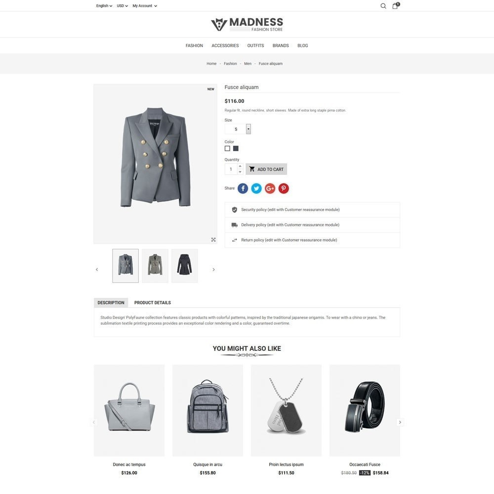 theme - Мода и обувь - Madness Fashion Store - 7