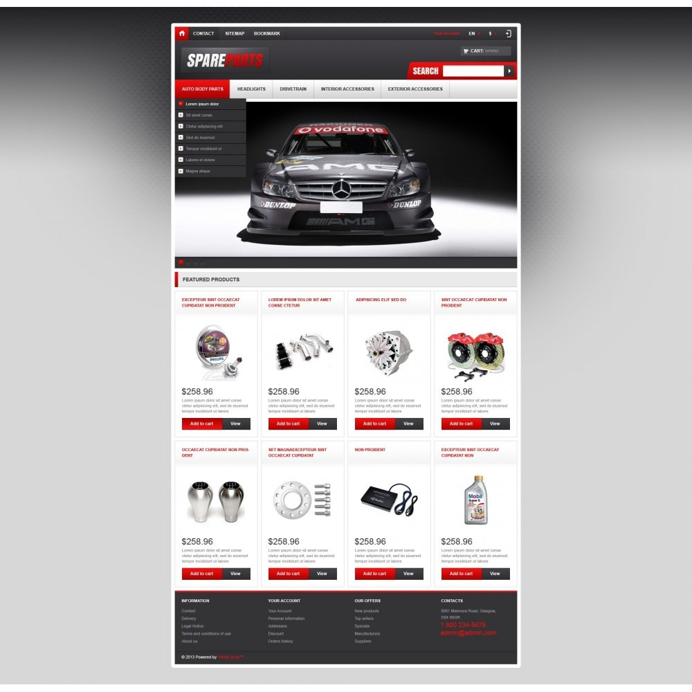theme - Coches y Motos - Responsive Spare Parts Store - 4