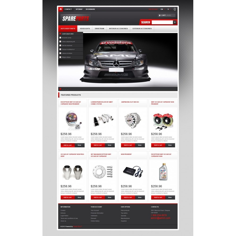 theme - Coches y Motos - Responsive Spare Parts Store - 5