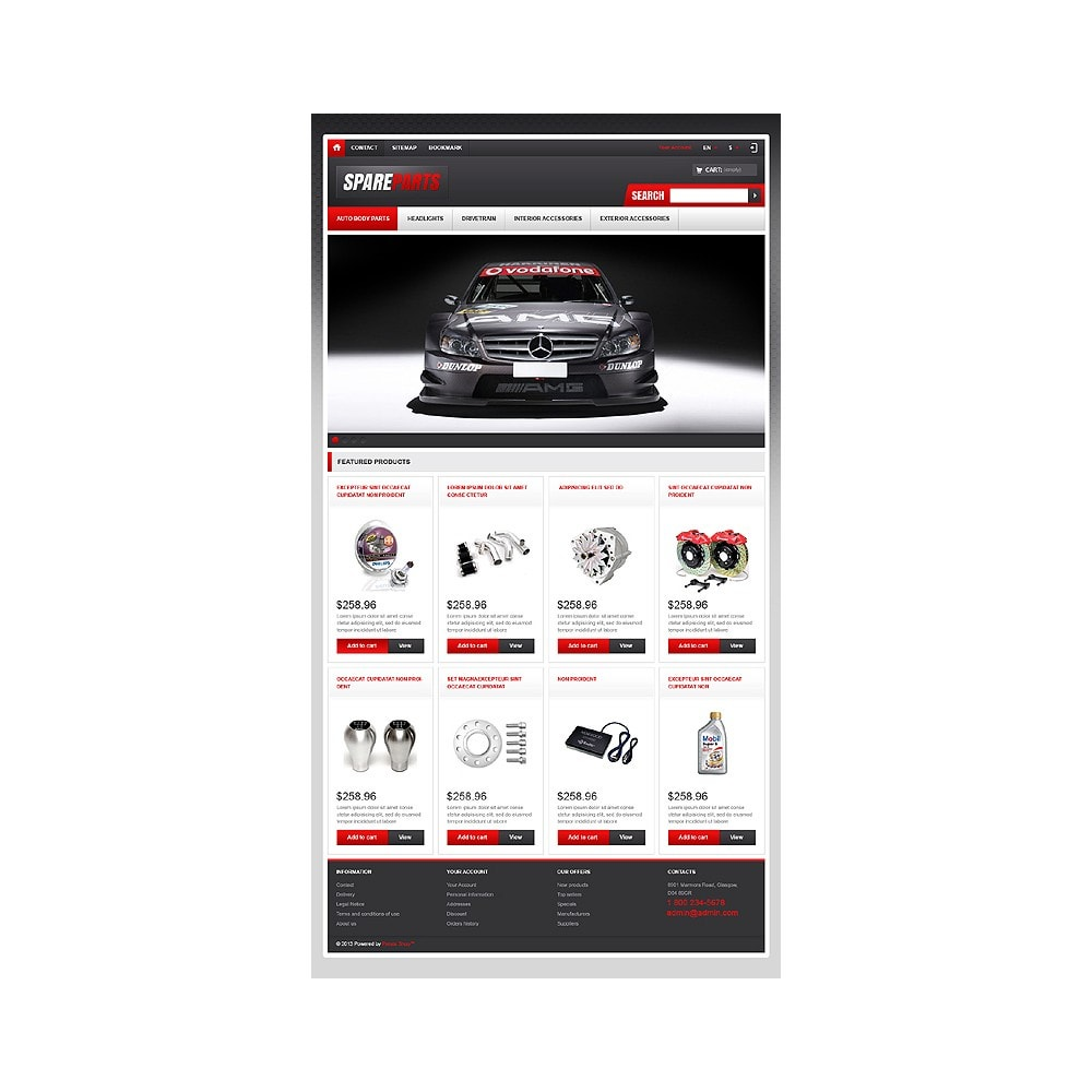 theme - Coches y Motos - Responsive Spare Parts Store - 11
