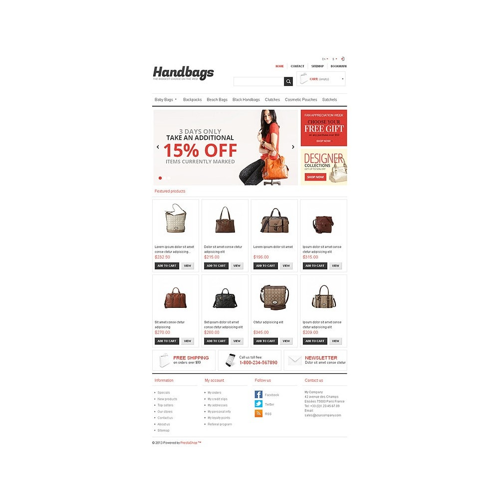 theme - Mode & Chaussures - Responsive Handbags Store - 8