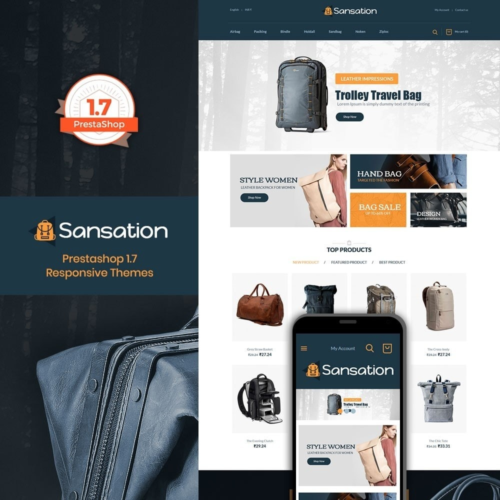theme - Moda & Obuwie - Sansation Bag Store - 1