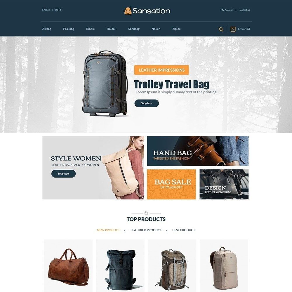 theme - Moda & Obuwie - Sansation Bag Store - 2