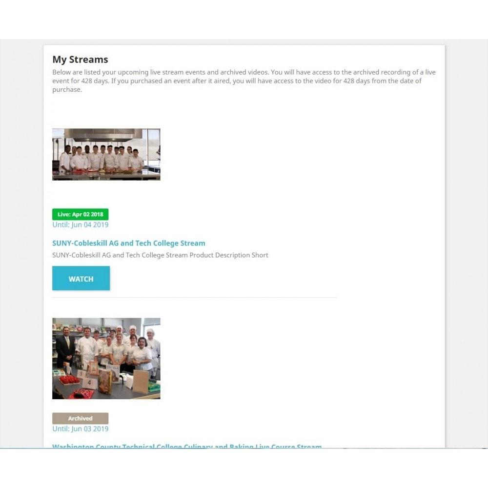 module - Informação Adicional & Aba de Produto - Live Video Stream Products Management - 2